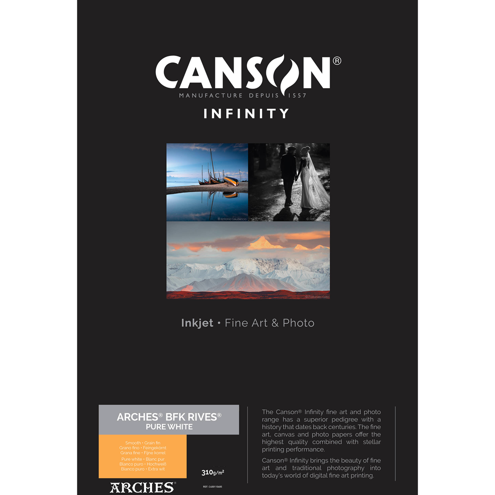 Canson Infinity ARCHES BFK Rives Pure White Photo Paper