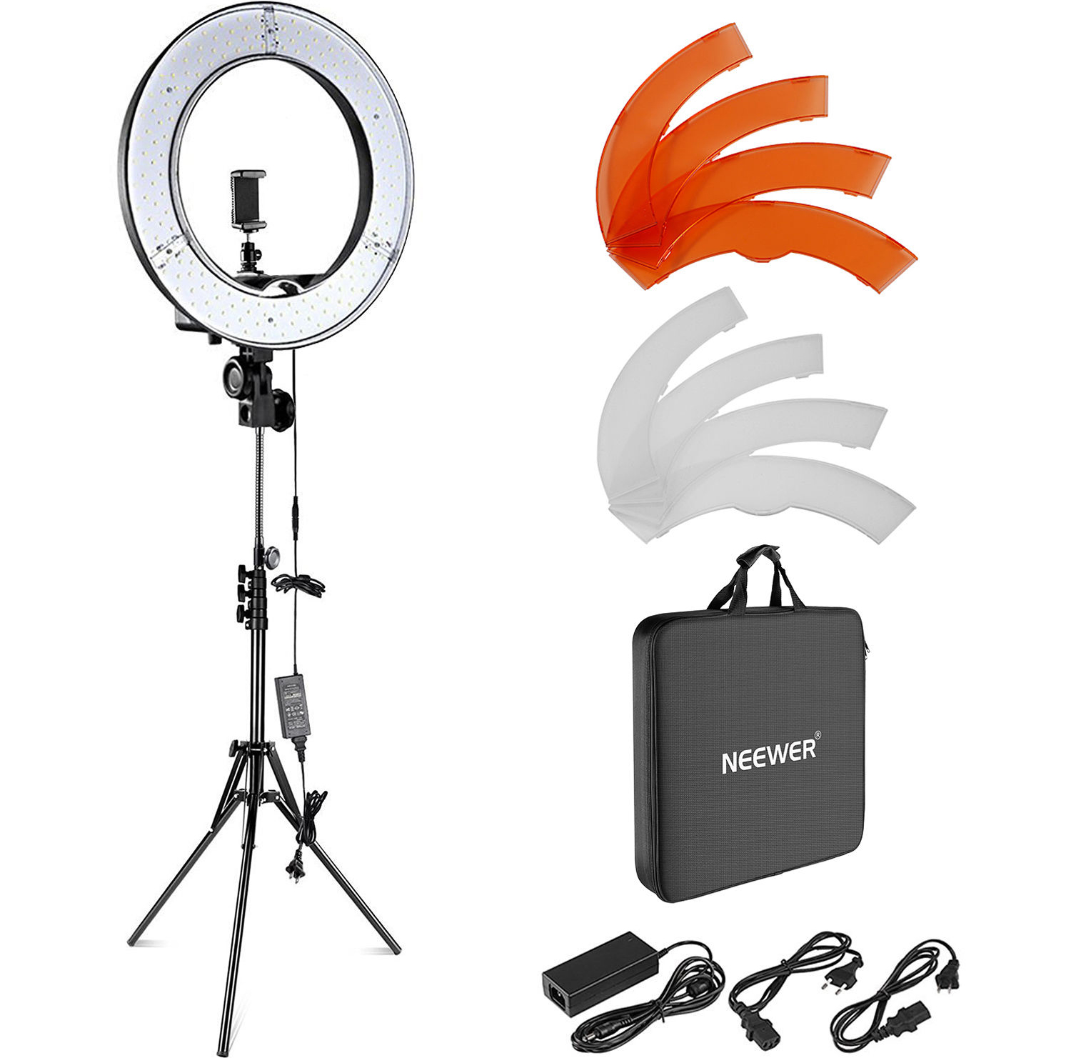 Neewer LED Ring Light with Stand and Accessories Kit