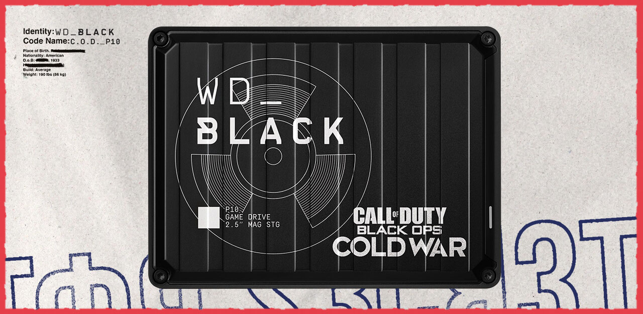WD 2TB WD_BLACK Call of Duty: Black Ops Cold War Special Edition P10 Game Drive