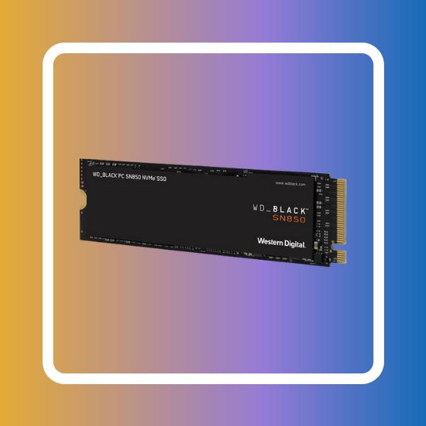 WD 500GB WD_Black SN850 Gaming Internal NVMe PCIe 4.0 SSD without Heatsink