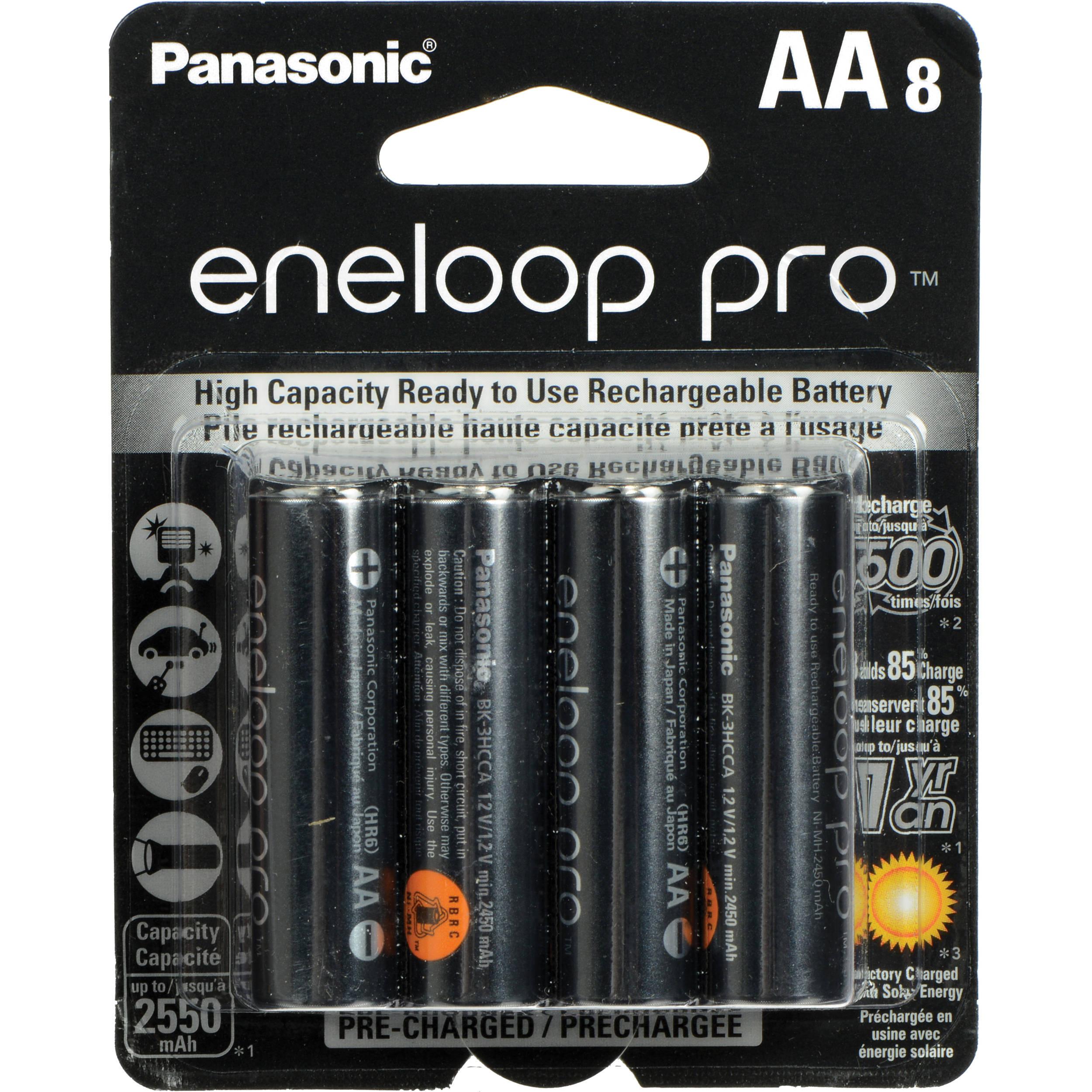 Panasonic eneloop pro AA Rechargeable NiMH Batteries