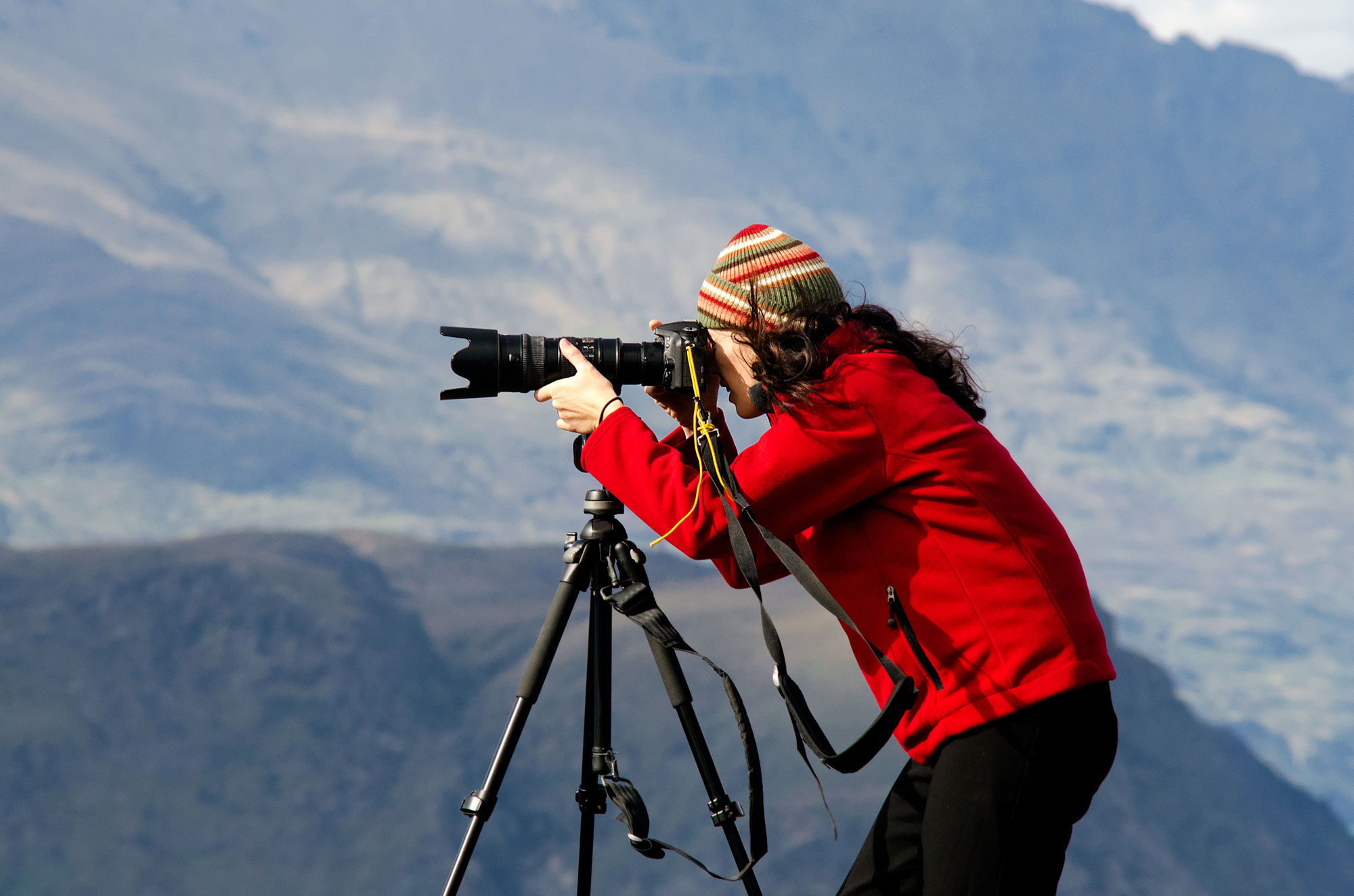 A tripod or monopod will help steady your telephoto view and images.