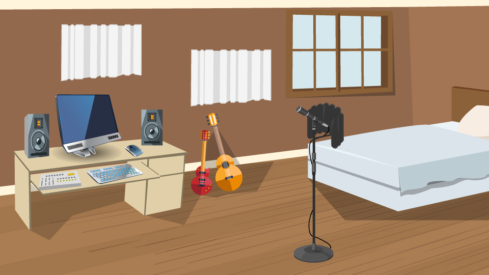 How to set up a home recording studio in a bedroom b h for Ways to set up a small bedroom