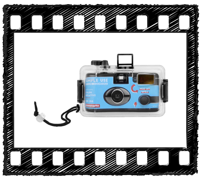 Lomography Color Negative 400 Simple Use Film Camera + Underwater Case