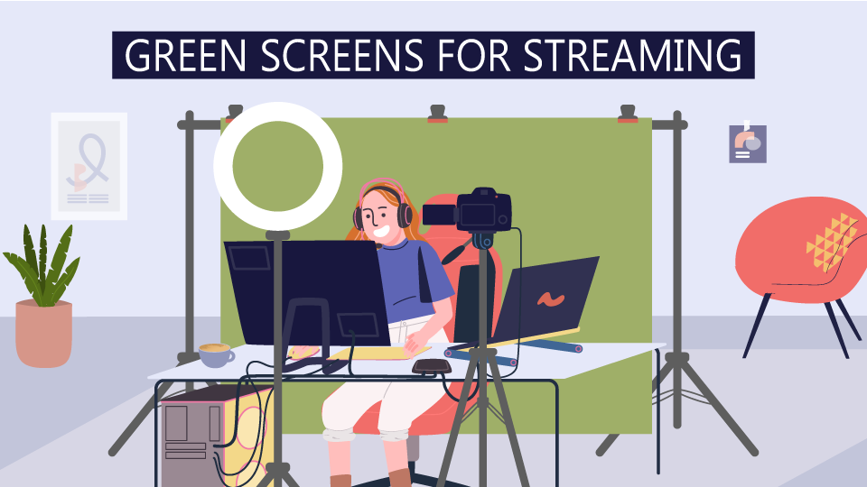 Dress Your Streaming Background For Success With A Green Screen B H Explora