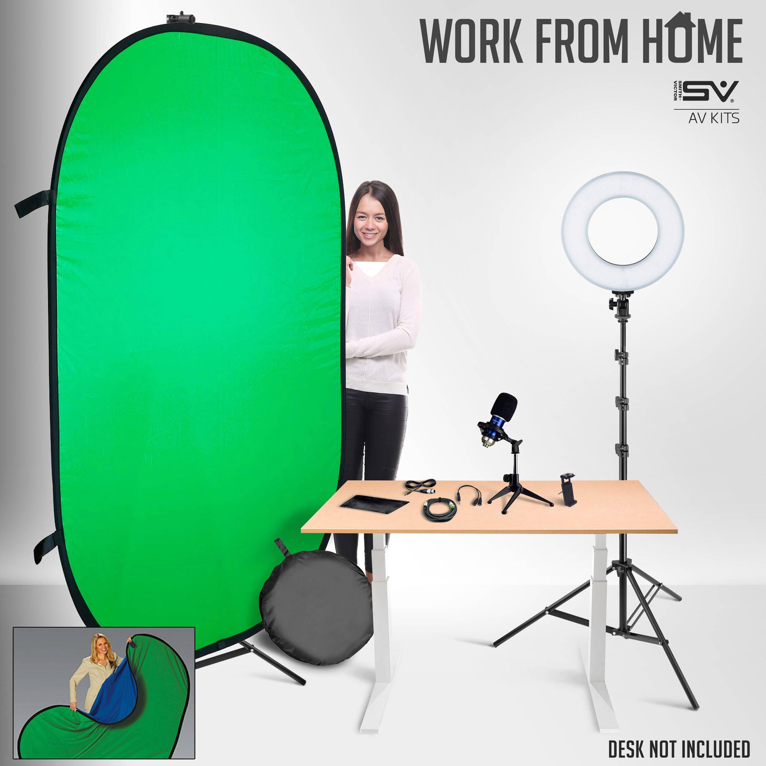 Smith-Victor Basic Smartphone / Ring Light Desktop Work-From-Home AV Kit