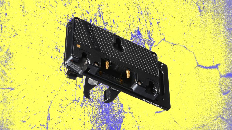 Wooden Camera Gimbal Handle Bar Power Bracket