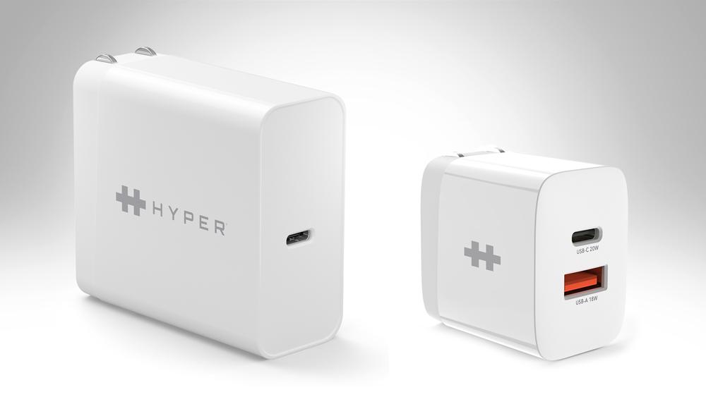 HyperJuice 65W USB Type-C AC Charger & HyperJuice 20W Dual USB Type-C & USB Type-A AC Charger