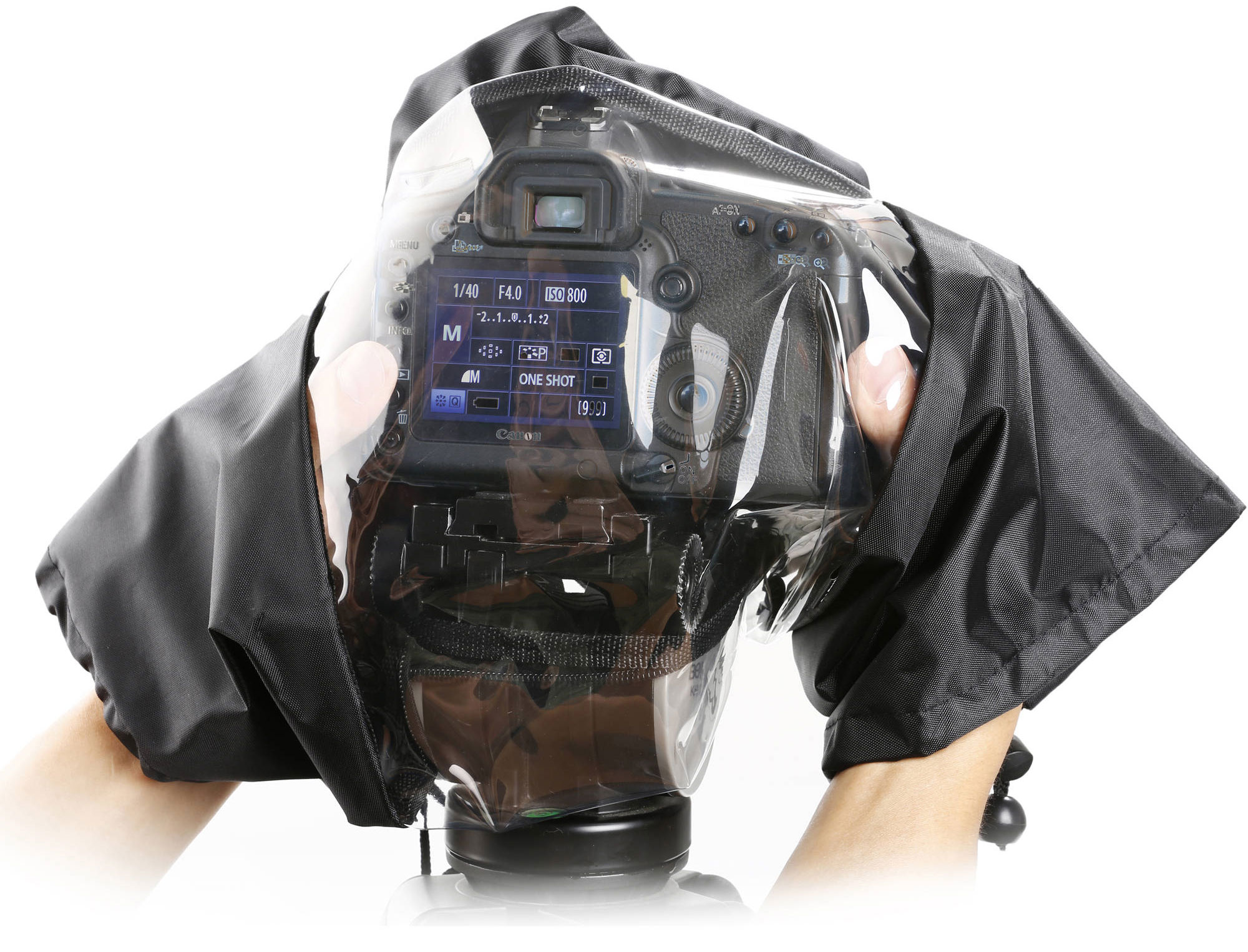 Movo Photo Waterproof Nylon Rain Cover with Enclosed Hand Sleeves