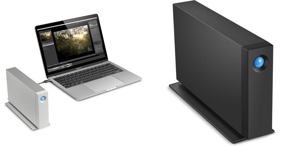 LaCie d2 Thunderbolt™ 3 (left) and LaCie d2 Professional Storage Drives