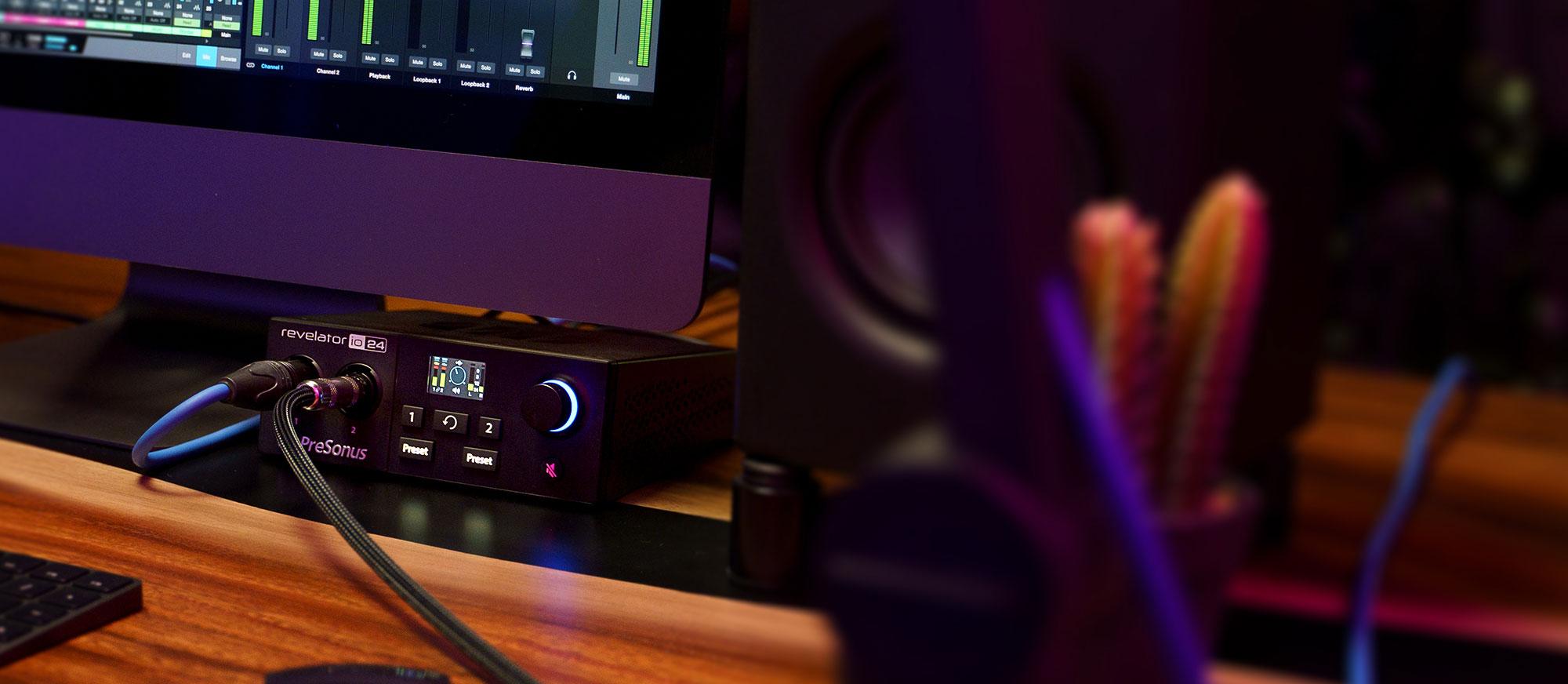 PreSonus Revelator io24 Desktop 2x4 USB Type-C Audio/MIDI Interface