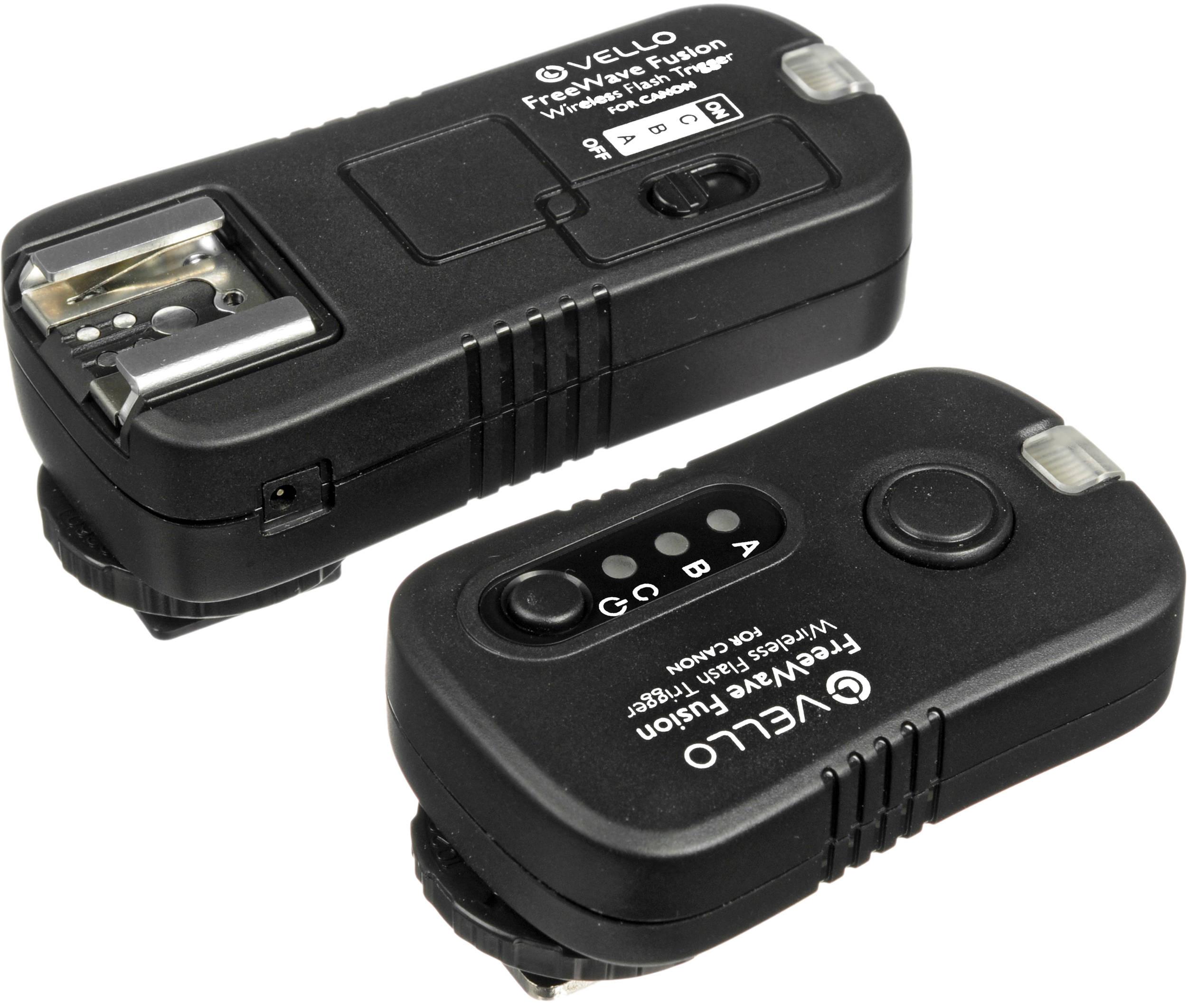 vello freewave fusion wireless flash trigger & remote control