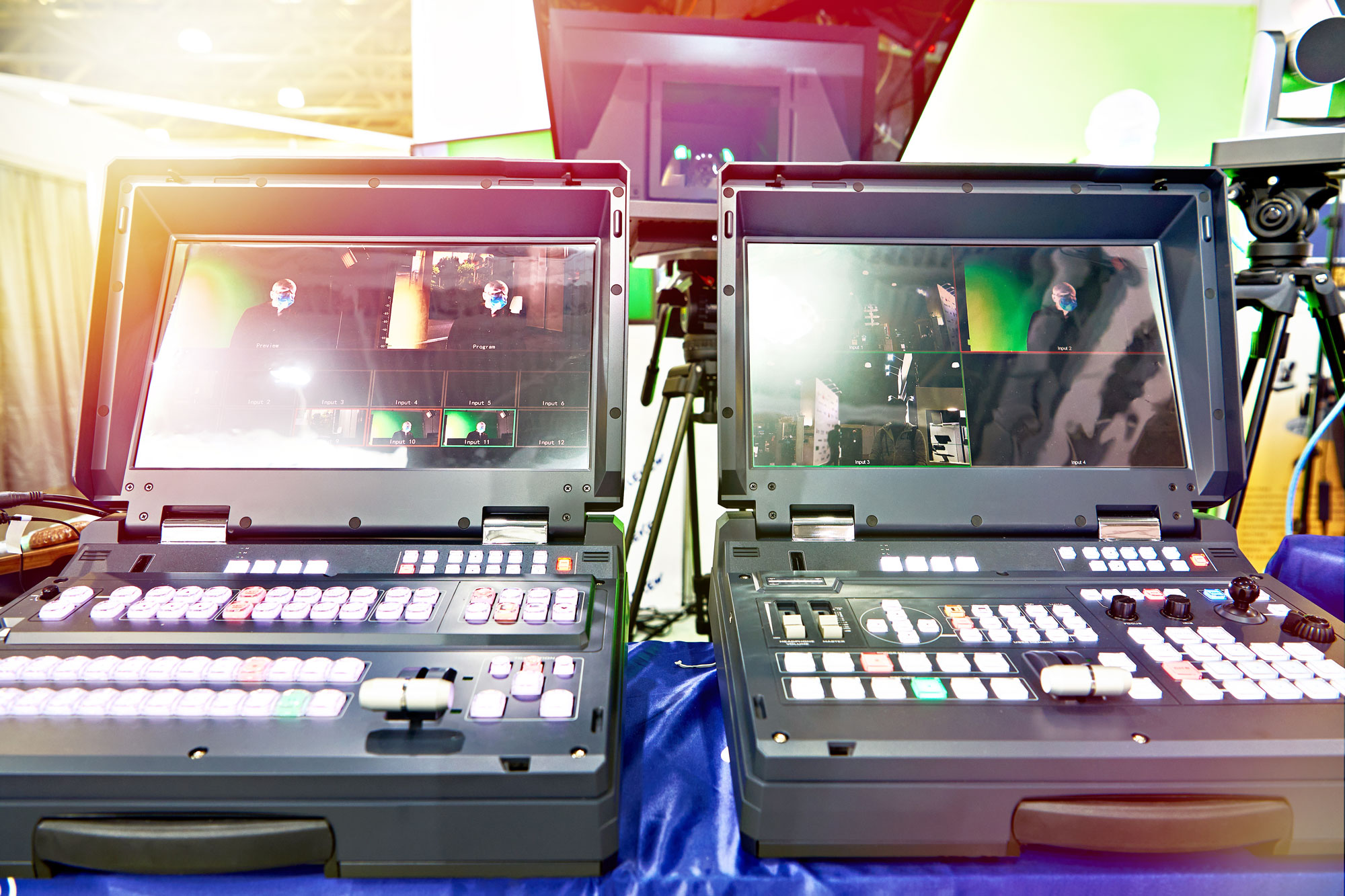 Portable video switchers