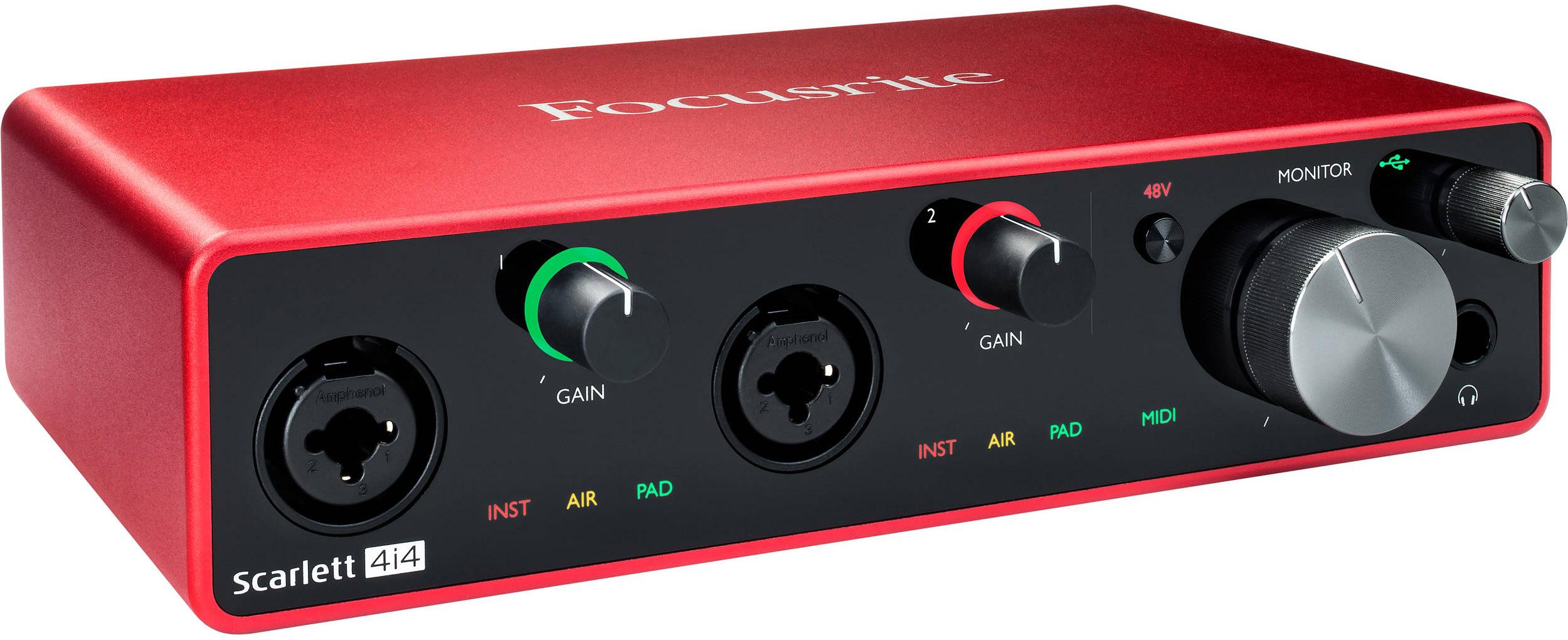 Focusrite Scarlett 4i4 4x4 USB Audio Interface