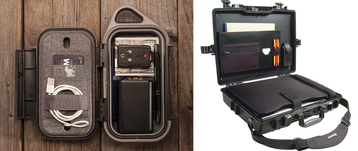 Pelican Go cases and protective computer cases are just two of the types of hard protective cases available from Pelican for keeping your mobile office safe and secure at home—or on the run.