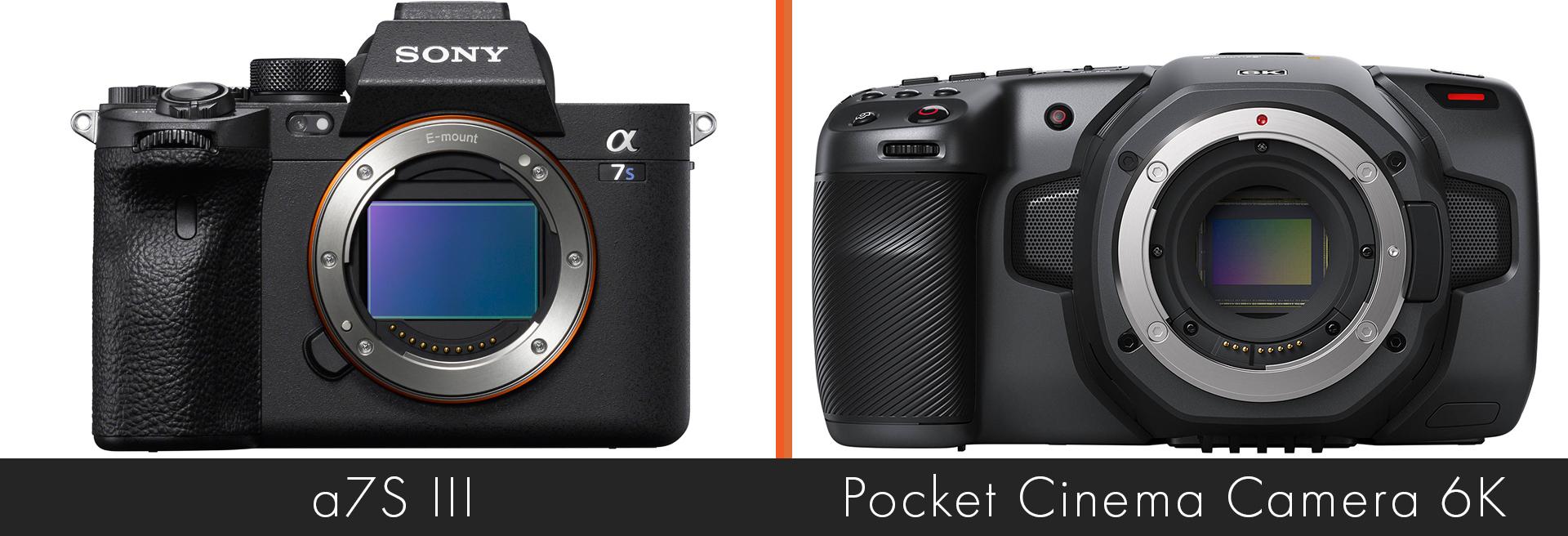 a7S III versus Blackmagic Design Pocket Cinema Camera 6K