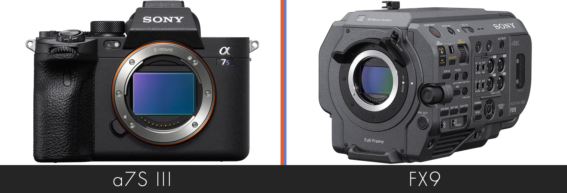 a7S III versus Sony FX9