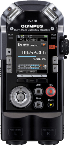 the new xlr equipped olympus ls 100 portable recorder b h explora. Black Bedroom Furniture Sets. Home Design Ideas
