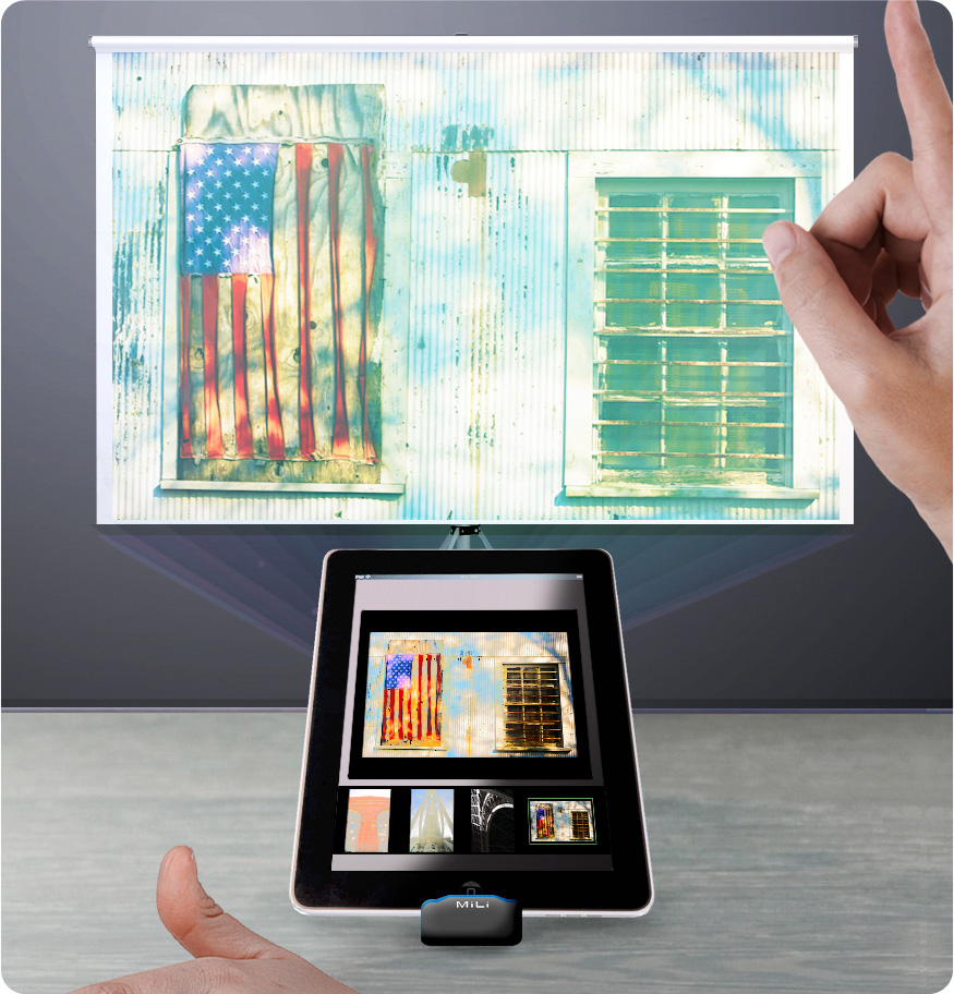 About inprivate pico vid o for Mirror pocket projector