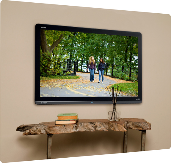 How To Mount A Tv Without Necessarily Drilling Holes B Amp H