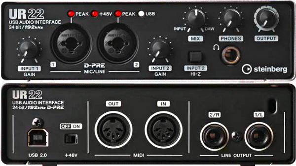 New Steinberg Ur 22 Audio Interface B Amp H Explora