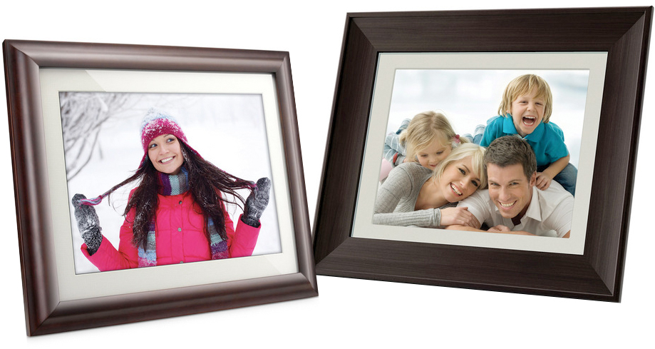 for truly wooden digital frames coby and hp offer two models that will show off your pictures in a timeless natural way cobys dp1052 10 digital photo