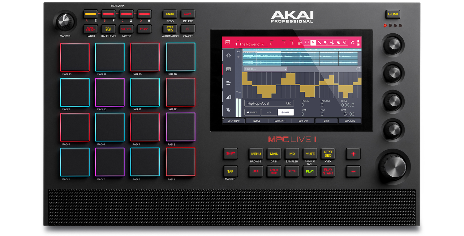 Akai Professional MPC Live II Standalone Music Production Center with Built-In Monitors and CV/Gate I/O