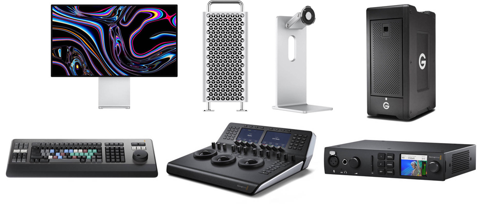 Mac Pro with DaVinci Resolve Workstation Video Editing Kit