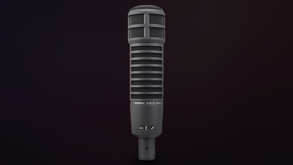 Electro-Voice RE20 Broadcast Announcer Microphone with Variable-D (Black)