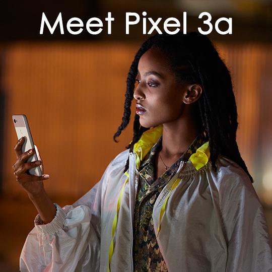 Google Pixel 3a XL Smartphone (Unlocked, Just Black) GA00664-US