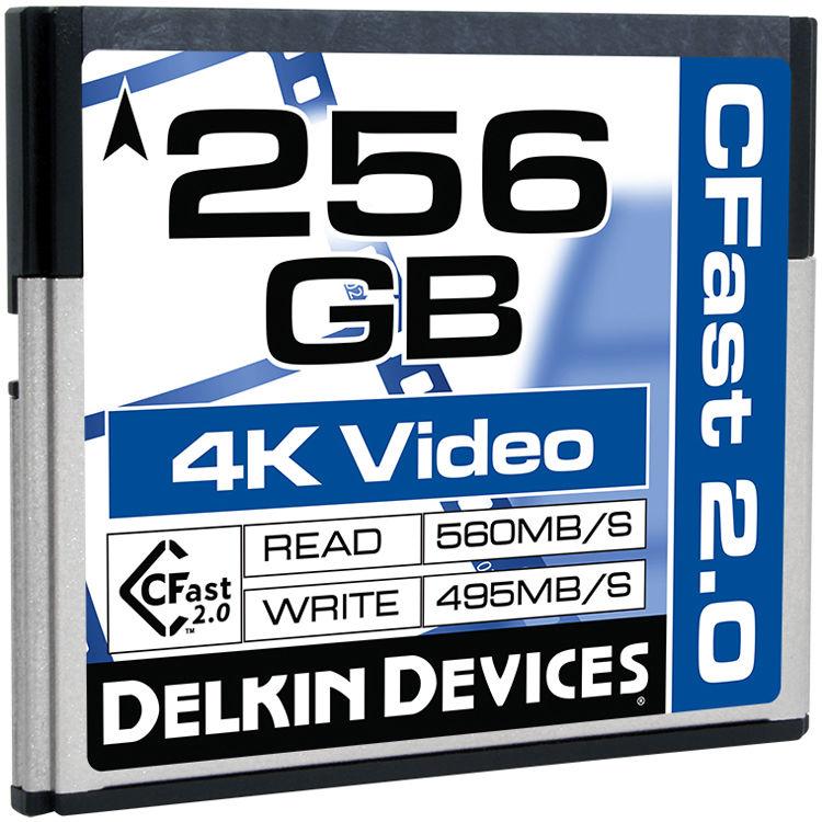 Delkin Devices 256GB Cinema CFast 2.0 Memory Card