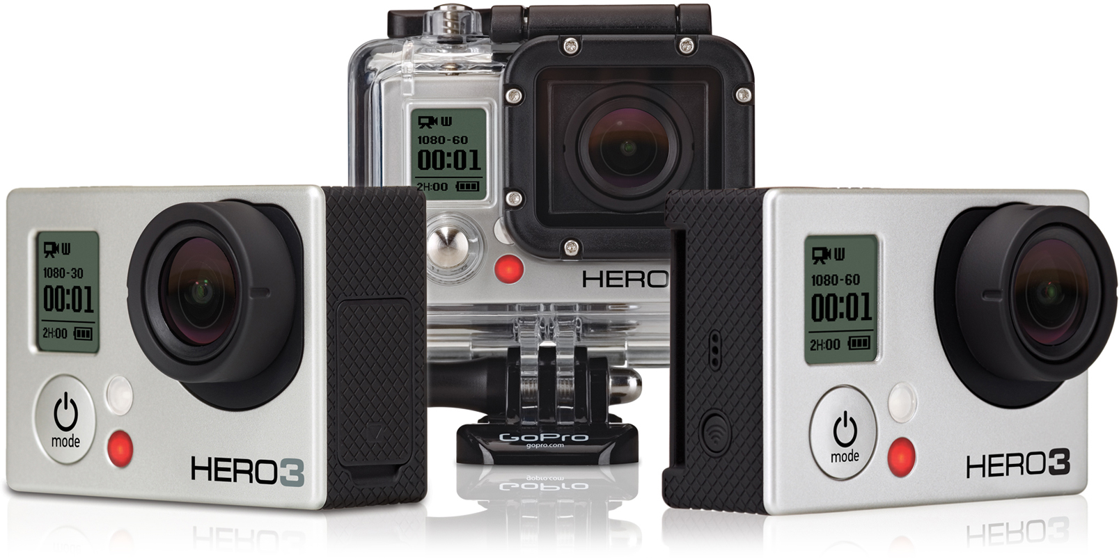 gopro announces the new hero3 action camera accessories. Black Bedroom Furniture Sets. Home Design Ideas