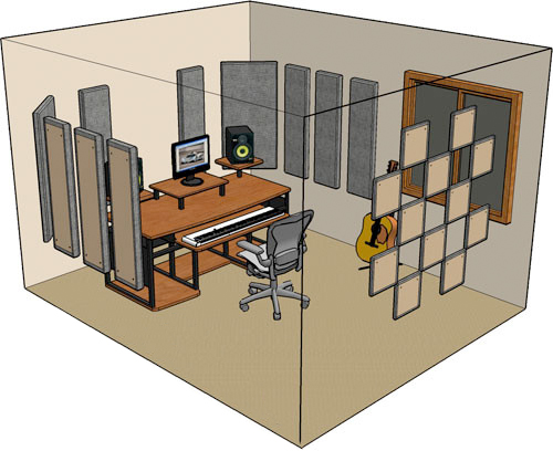 Holiday 2012 how to set up a room for recording and - Bedroom studio acoustic treatment ...