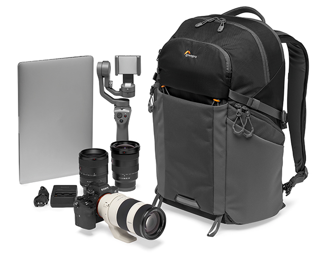 backpack with camera accessories