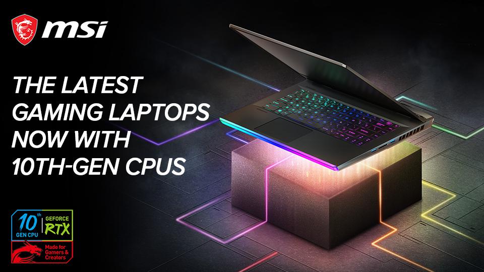 MSI 10th Gen Gaming Laptops