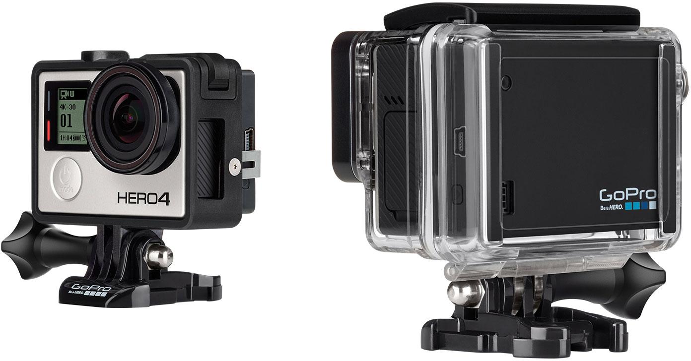 new gopro cameras announced hero hero4 silver hero4 black b h explora. Black Bedroom Furniture Sets. Home Design Ideas