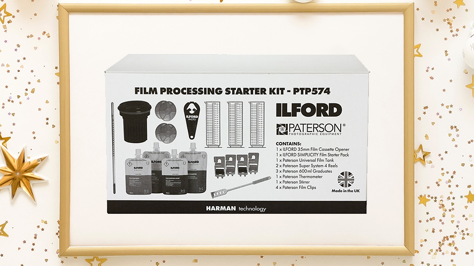 Film Processing Starter Kit from Paterson and Ilford