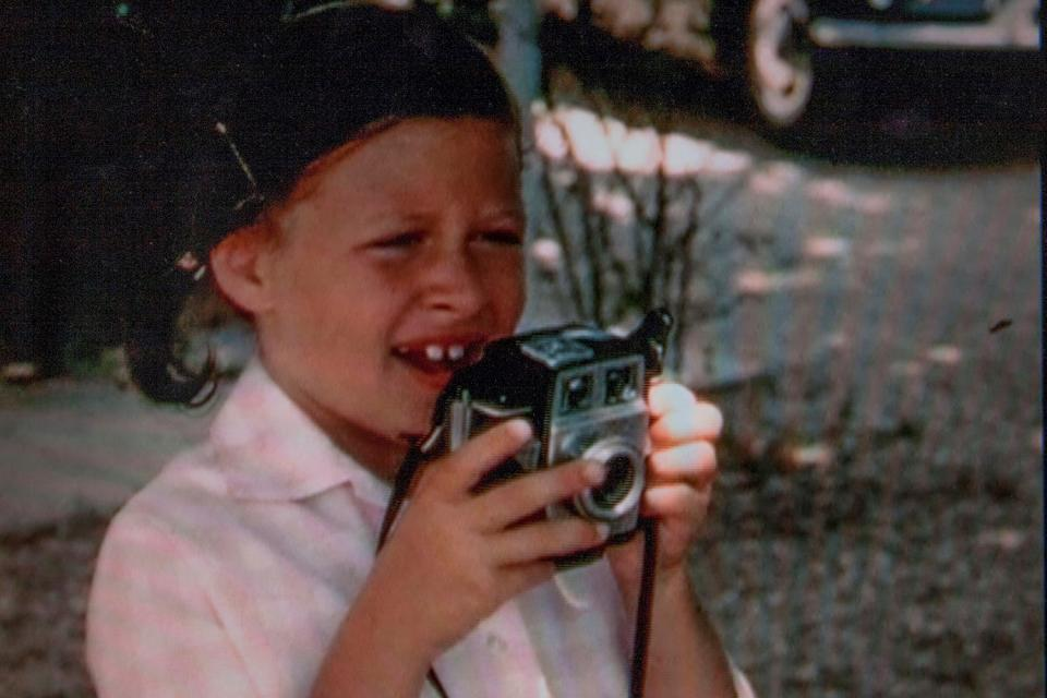 Fougeron as a child with her Brownie Twin camera