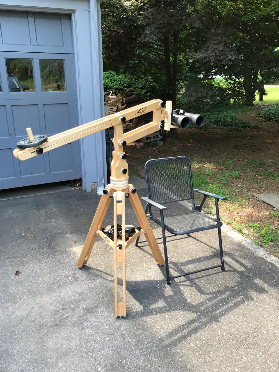 The setup: Fujinon Polaris, Starlight Innovation parallelogram mount, & Tri-Light tripod