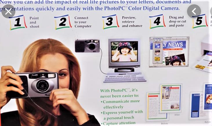 Promotional brochure for Epson PhotoPC