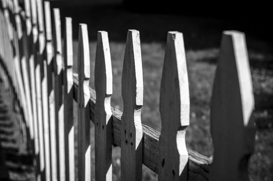 Sometimes something as simple or mundane as a fence can be the starting point for an interesting series of photographs. You don't always have to travel far to find something you've never seen before. (Leica M10 Monochrom; Voigtländer Noktor 75mm f/1.5 Asph).