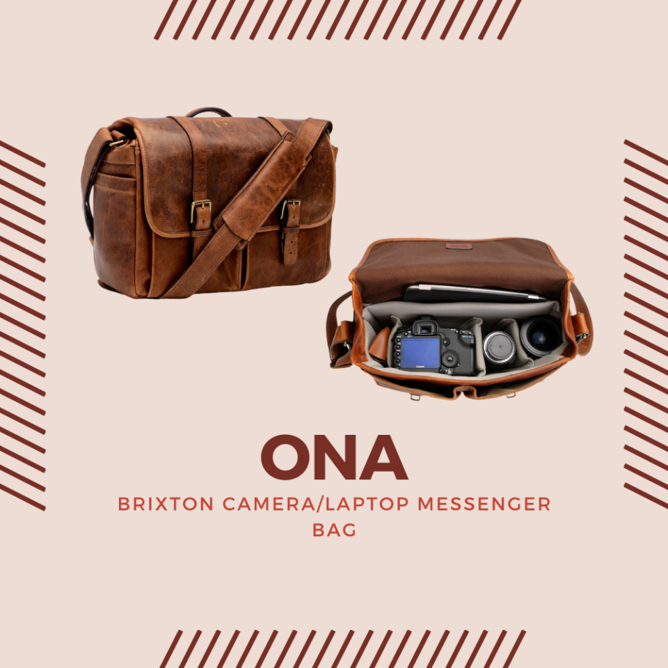 The ONA Brixton Camera/Laptop Messenger Bag is a rather classy leather bag designed specifically for camera, lenses, and a laptop.