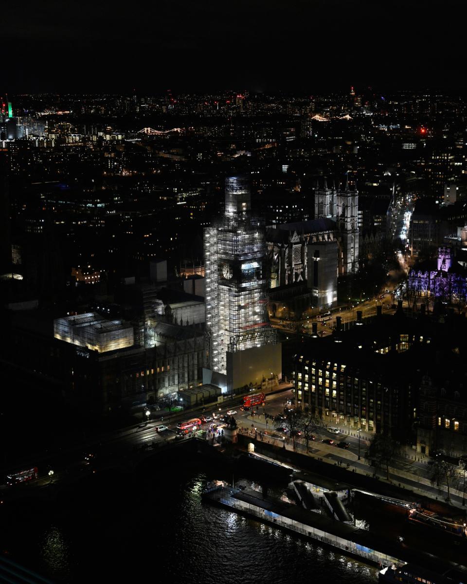 Elizabeth Tower/Big Ben, as seen from the London Eye