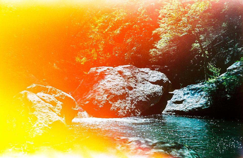 A light leak. A LARGE light leak…the kind that happens when the film door breaks while shooting.