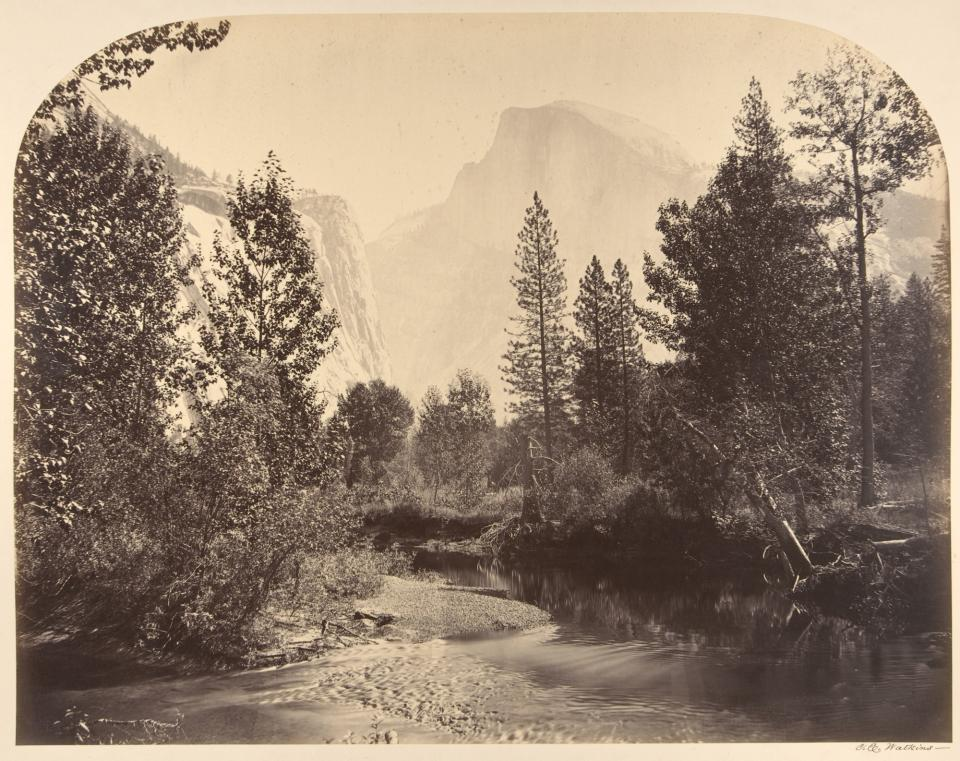 Figure 3. Carleton Watkins, Tasayac, or the Half Dome, 4967 Feet, albumen print from glass negative, 1861