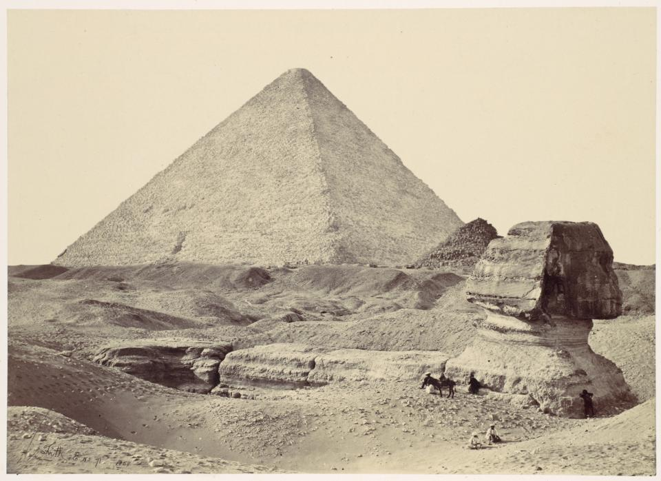 Figure 4. Francis Frith, The Sphinx and Great Pyramid of Giza, albumen print from glass negative, 1857