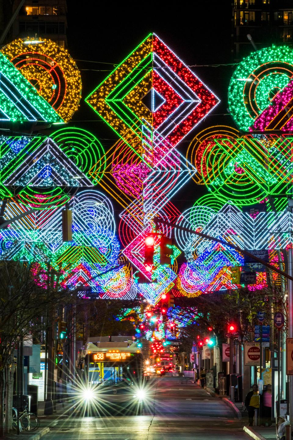 Fulton Mall, in Brooklyn, NY, looking great for the holidays! - 10 Tips And Tricks For Photographing Holiday Lights And Candles