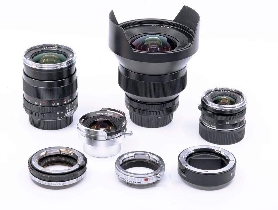The photographs accompanying this article were taken with the above ultra-wide-angle lenses and extension tubes.