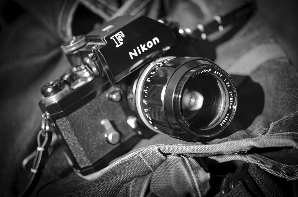 A Nikon FTn (1966) with a 105mm f/2.5 NIKKOR-P. The lens was a solid performer when it was introduced back in 1959 and is considered a gold standard among portrait shooters to this very day.