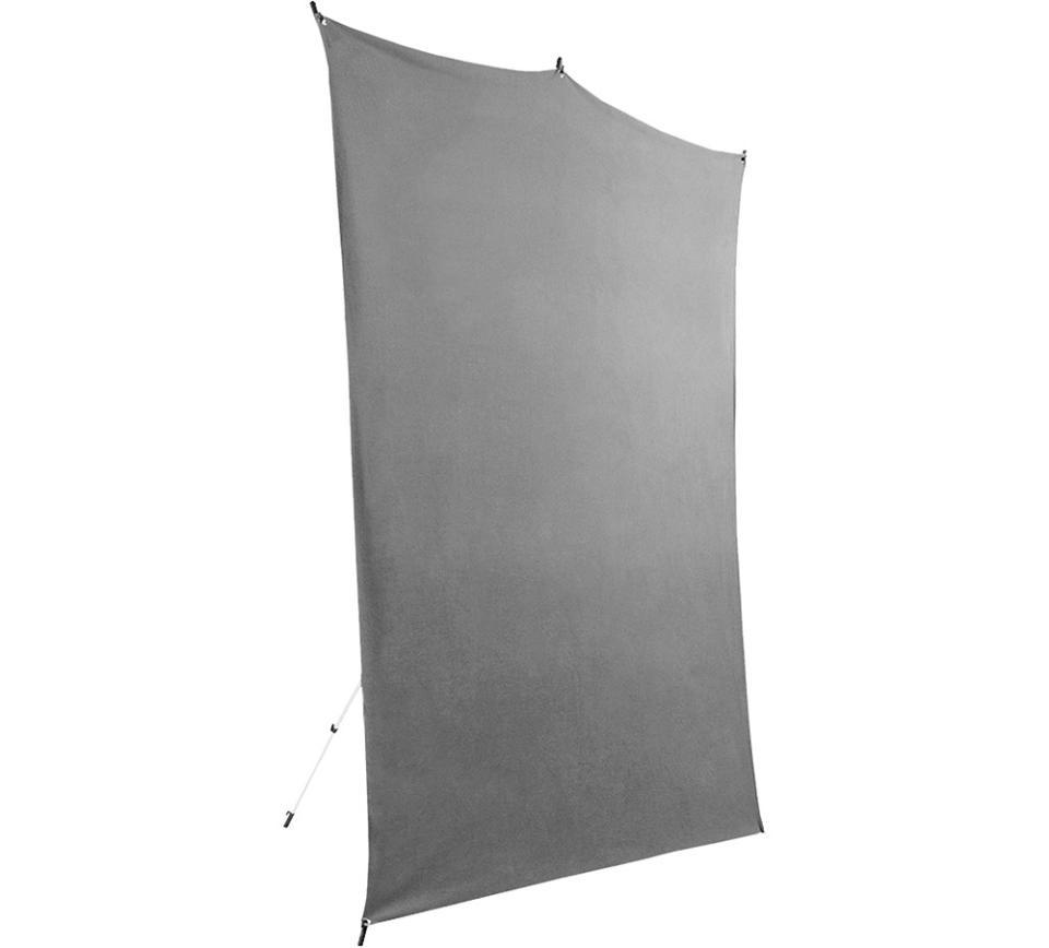 Wrinkle- Resistant 5' x 7' Gray Cloth Backdrop (1.52m x 2.13m)